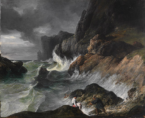Stormy Coast Scene after a Shipwreck - Horace Vernet (French, 1789–1863)
